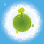 绿色的地球插画