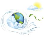 动感地球插画