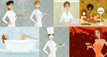 现代女性插画