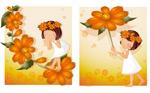 女孩-橙色雏菊主
