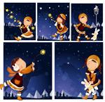 女孩-冬天的夜晚