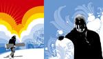 滑雪运动插画