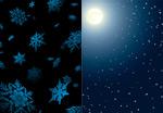 月光与雪花