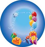 礼物气球花边