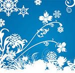 蓝色雪花背景