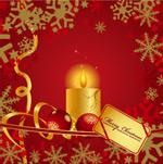 圣诞节蜡烛花纹