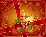 圣诞节蜡烛圣诞树