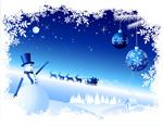 雪花雪人雪景