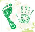 脚印与手掌