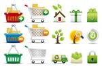购物和环保图标