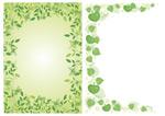 绿色花边矢量
