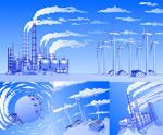 重工业污染矢量