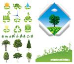 树木与环保图标