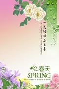 花纹春季海报