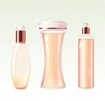 矢量化妆品瓶子