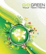 创意绿色地球