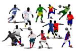 足球运动矢量图