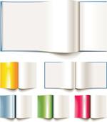 空白书本画册