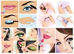 女性化妆瞬间