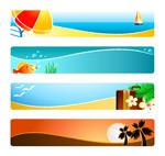 阳光沙滩横幅