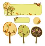 树木主题装饰框