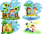 儿童暑假矢量2