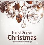 手绘圣诞节元素