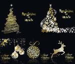 金闪闪圣诞节元素