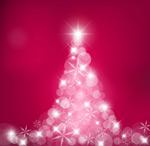 梦幻圣诞树矢量