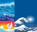 海浪主题矢量