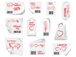 情人节促销标签