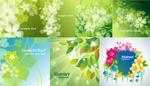 绿色花卉幻影