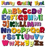 卡通POP英文字母