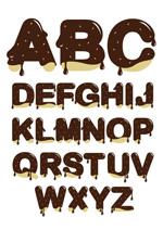 巧克力英文字母