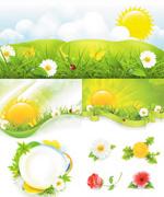 春季阳光矢量
