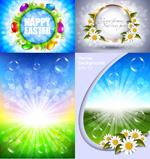 复活节自然背景