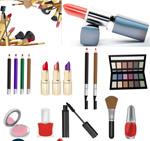 女性化妆品矢量
