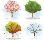 四季树矢量