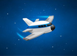 卡通太空飞船