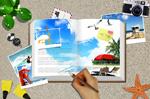 旅游日志夏季海报