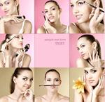 美女与化妆品
