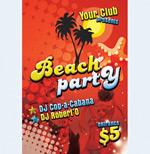 海滩派对宣传单
