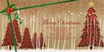 圣诞树插画背景