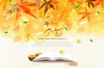 手绘秋天意境背景