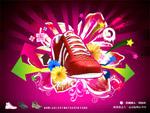 视觉潮人鞋广告