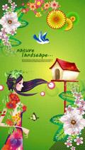 炫彩春天商业海报