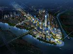 城市夜景俯瞰图