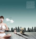 美女瑜珈地产广告