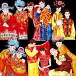 中国传统新郎新娘
