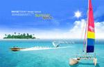 浪漫海洋夏季海报